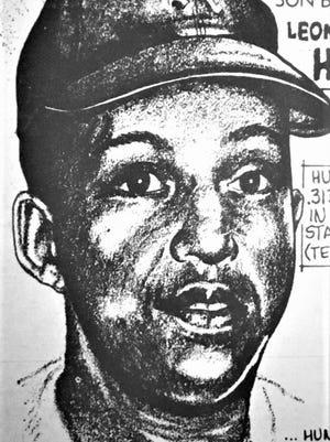 Outfielder Leonard Hunt, Augusta's first black professional ballplayer in 1954.