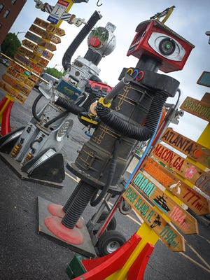 8-foot-tall robots will be among ojects d'art at the Urban Flea June 13.