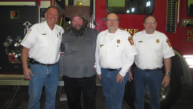 Pictured are Port Edwards Fire Chief Jim Leiser, from left, Captain Mike Schroeder, 1st Assistant Chief Dennis Saeger and 2nd Assistant Chief Delno Stewart.