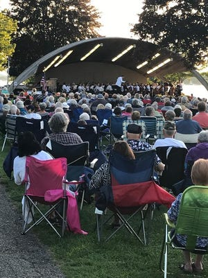 The Holland Symphony Orchestra performs in Kollen Park last year. This year, the HSO has been posting video snippets of performances for its season ticket holders.