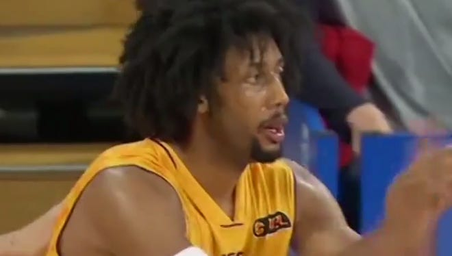 Josh Childress smashed someone's face with his elbow.