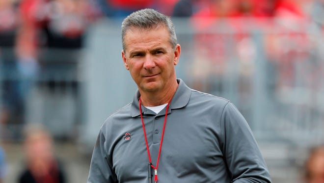 Ohio State has suspended Urban Meyer for the first three games of the 2018 season. AP FILE PHOTO