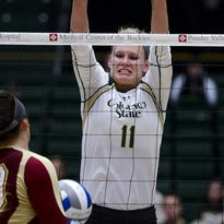 Colorado State's Acacia Andrews is 15th in the NCAA in hitting percentage and third in the Mountain West in blocks per set.