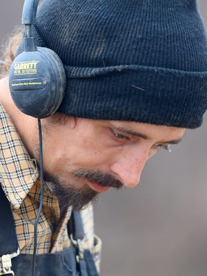 Brian Shifflett of Waynesboro concentrates on the sounds being produced.