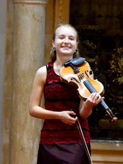 Sophia Steger during a 2015 Heifetz performance in Staunton.