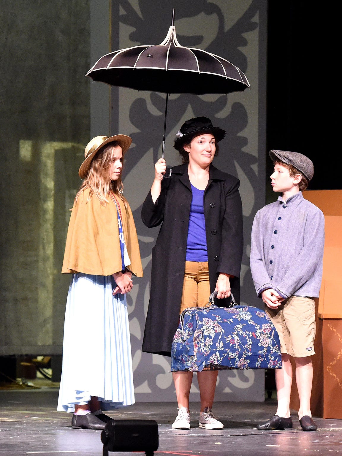 Liz Leone as Mary Poppins shares the stage with Kate