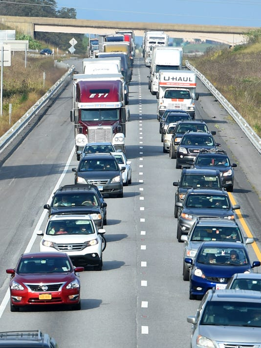 Wrecks snarl interstate traffic