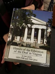 "Book titled ""History of the Education of the Deaf in"