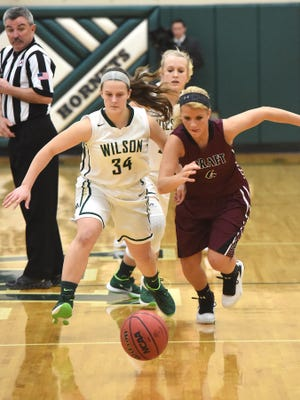 Wilson Memorial's Cheridan Hatfield, left, and Stuarts Draft's Danielle Brenneman are two of the top returning players in the Shenandoah District this season.