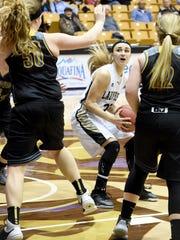 Buffalo Gap's Destiny Harper, center, played for Madison
