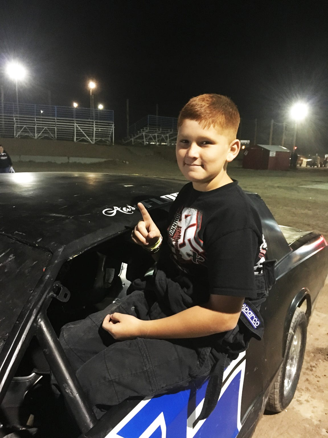 "Aasa ""Boo"" Flores is an up-and-coming talent at the SNM Speedway, beating out drivers more than four-times his age. In his first race he came in second, and in his second race Flores placed first."