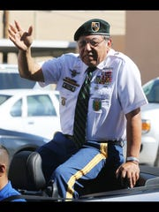 """Joe """"China Boy"""" Lopez was the grand marshal of the Welcome Home Vietnam Veterans Parade Sunday."""