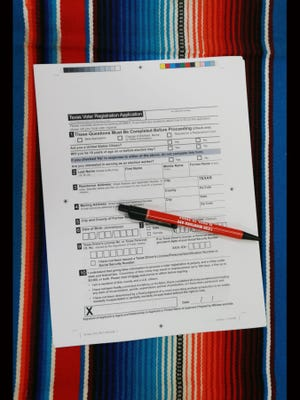 Voter registration application.