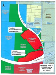 A 95 acre shopping center proposal in Collierville near Houston Levee and 385.