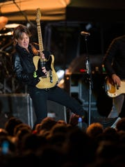 Keith Urban performs during the Jack Daniel's Music City Midnight: New Year's Eve event at Bicentennial Capitol Mall State Park in Nashville, Tenn., Saturday, Dec. 31, 2016.