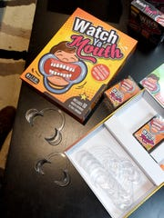 """""""Watch Ya' Mouth"""" is a game created by Peter and Alison"""