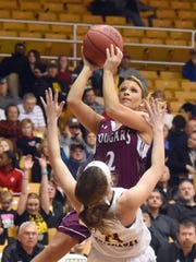 Stuarts Draft's Danielle Brenneman looks to the basket