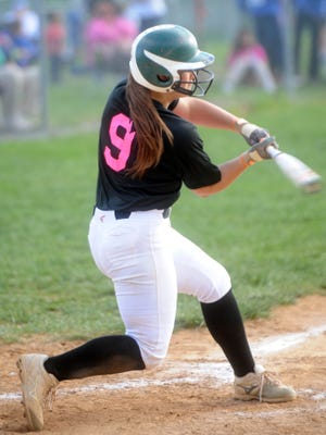 Cheridan Hatfield (9) and the Wilson Memorial Hornets scored 11 runs Tuesday in a win over Stonewall Jackson.