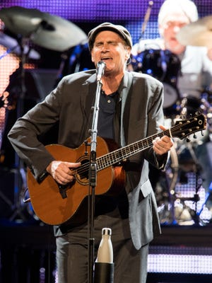 James Taylor performs at Bridgestone Arena on Wednesday, July 12, 2017, in Nashville.