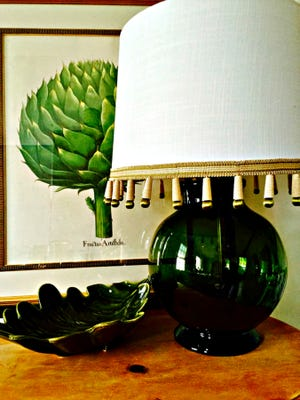 An easy DIY custom lamp is made from a favorite vase.