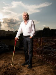 Sir. Richard Branson poses for a portrait at the site of the future Virgin Hotels Nashville in Nashville, Tenn., Wednesday, Sept. 20, 2017.