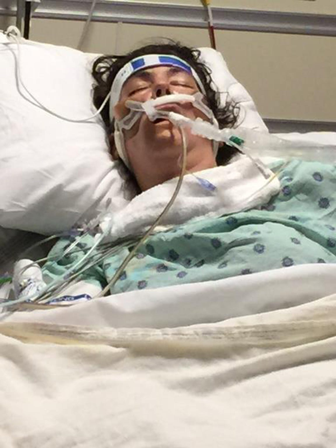 Cortney Small while in a coma in 2015.