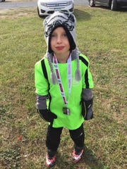 Jaxon Forgrave, 7, will be part of AYSO's VIP soccer league this spring. The Waynesboro boy has arthrogryposis, a joint disease that limits his movement.