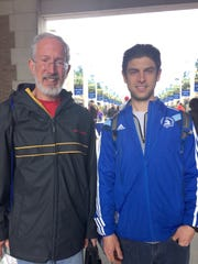 Both avid runners, Roger Kuhlmann and his son, Erick