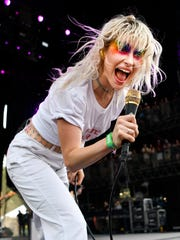Paramore performs during the Bonnaroo Music and Arts Festival in Manchester, Tenn., Friday, June 8, 2018.