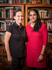 Indie Pereira, left, and her wife Pari Bhatt, right, at their home in Nashville, Tenn., Thursday, June 28, 2018.