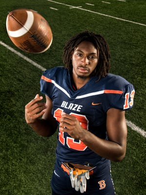 Blackman's Trey Knox poses for a portrait in Nashville, Tenn., Tuesday, June 19, 2018.