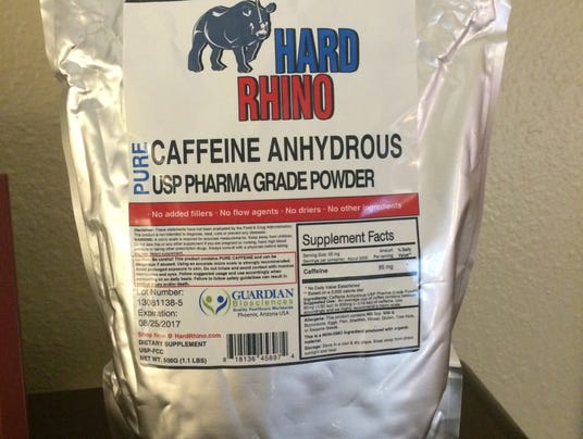 Hard Rhino brand caffeine powder