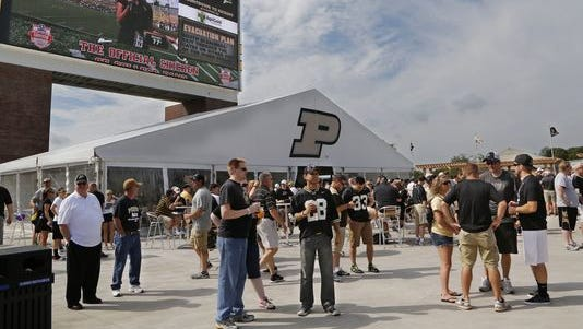 Purdue's south end zone