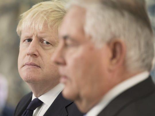 British Foreign Secretary Boris Johnson and his U.S.