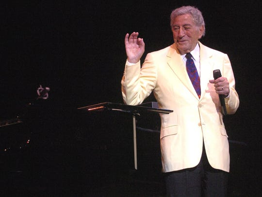Tony Bennett, pictured on stage in 2010 at the Paramount Theatre in Asbury Park.