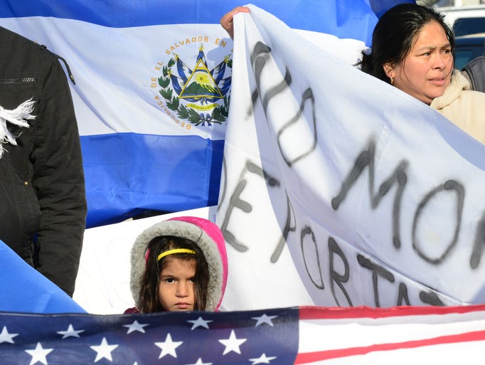 Immigrants and Americans marched in solidarity to protest
