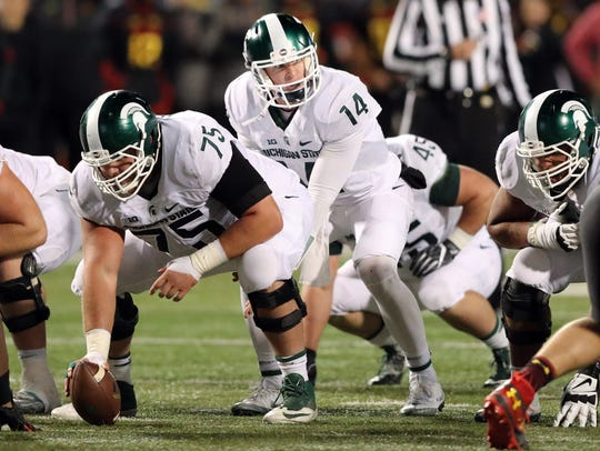 Brian Lewerke begins his tenure as MSU's starting quarterback