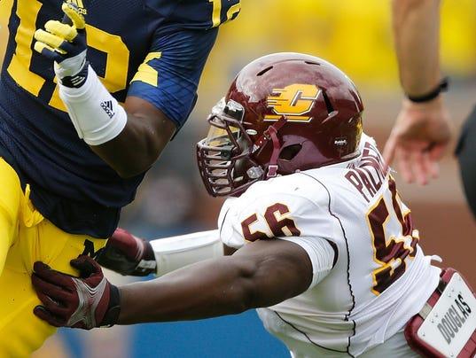 Jerseys NFL Sale - Detroit Lions sign CMU's Palmer, cut Lamar Holmes