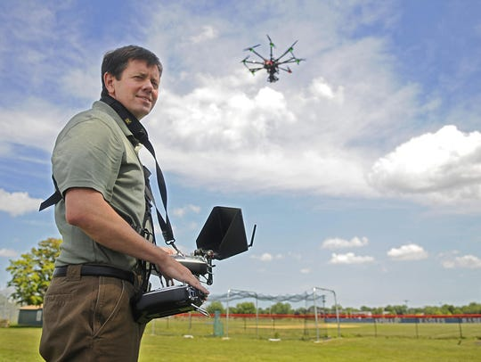 Wingnut Aerial Imaging owner Steve Fines operates his