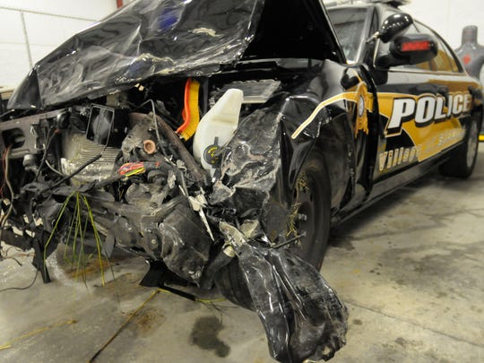A Brown County Sheriff's deputy crossed the median on U.S. 41 on July 7, 2012, and hit another car while chasing a stolen Dodge Viper. The incident is under investigation.
