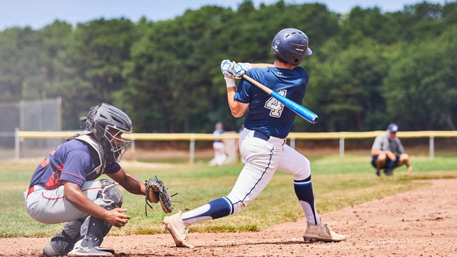 Zach Rogers of Team Cape Cod bats against Brian Rose Baseball on Saturday afternoon.