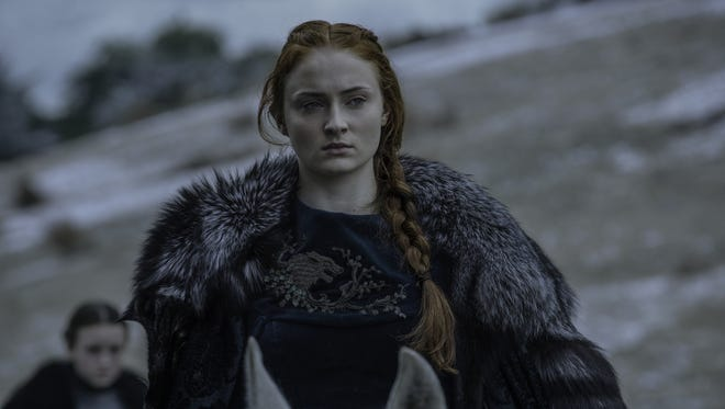 Sansa Stark is all business these days.