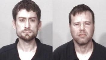 Jonathan Young, left, and Kevin Small