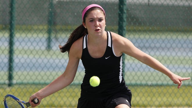 Davenport Assmption's Haley Resnick won the Class 1-A state singles title last year. Resnick is the No. 1 seed again.