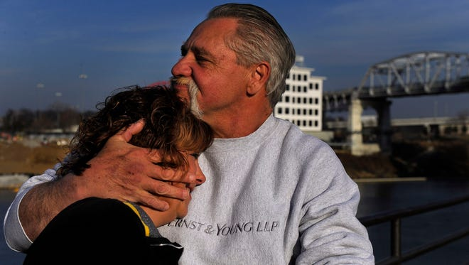Marty Johnson and James Smith are to be married on Valentine's Day under the Jefferson Street bridge.