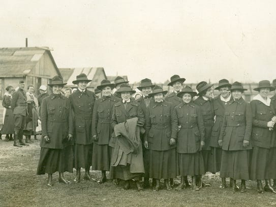 A group of U.S. Army nurses serving in France during