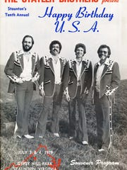 A program from the 1979 concert, which featured, from left, Don Reid, Harold Reid, Phil Balsley and Lew Dewitt. The concerts, which began in 1969, would continue until 1994.