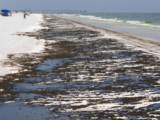 Pensacola Beach is pictured after the Deepwater Horizon