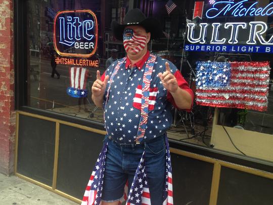Matthew Usher said he loves celebrating America's birthday in Music City.