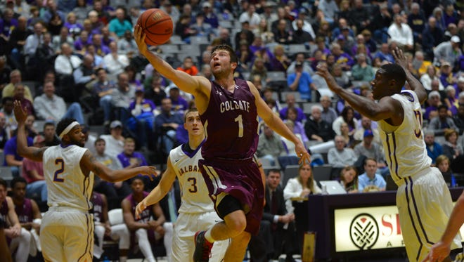 Eastern York grad Austin Tillotson led Colgate in points, assists and steals this season.